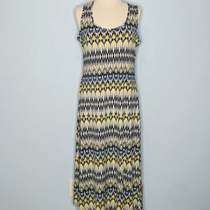 MSK Petite Ikat Print Sleeveless Maxi Dress